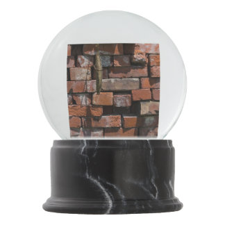 Old Bricks Abstract Snow Globe