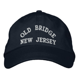 OLD BRIDGE, NEW JERSEY EMBROIDERED BASEBALL CAPS