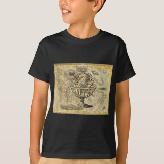 Old British America Explore Polar Bear Compass Map T-Shirt