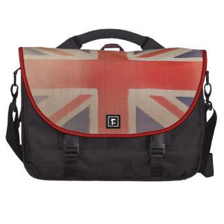 Old British Flag Bag Laptop Messenger Bag