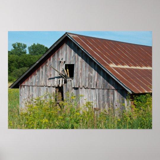 Old Broken Barn Poster