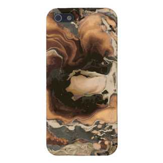 Old Brown Marble texture Liquid paint art Cover For iPhone 5/5S