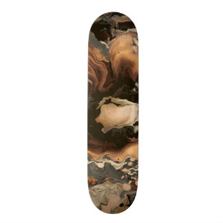 Old Brown Marble texture Liquid paint art Custom Skateboard