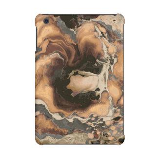 Old Brown Marble texture Liquid paint art iPad Mini Retina Cover