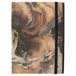 "Old Brown Marble texture Liquid paint art iPad Pro 12.9"" Case"