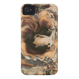 Old Brown Marble texture Liquid paint art iPhone 4 Case