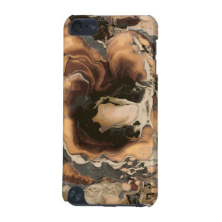 Old Brown Marble texture Liquid paint art iPod Touch (5th Generation) Cover