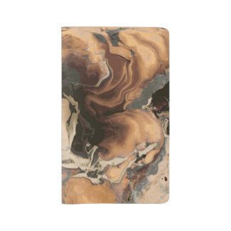 Old Brown Marble texture Liquid paint art Large Moleskine Notebook