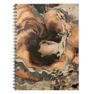 Old Brown Marble texture Liquid paint art Notebook