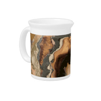 Old Brown Marble texture Liquid paint art Pitcher