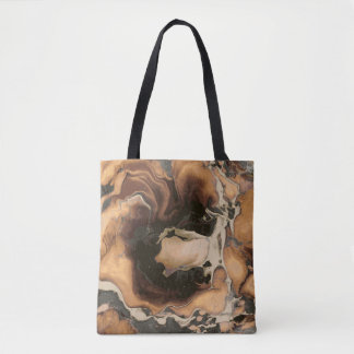 Old Brown Marble texture Liquid paint art Tote Bag