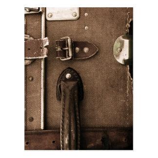 Old Brown Suitcase Postcard