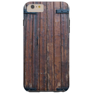 Old Brown Wood Doors With Black Iron Supports Tough iPhone 6 Plus Case