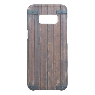 Old Brown Wood Doors With Black Iron Supports Uncommon Samsung Galaxy S8 Case