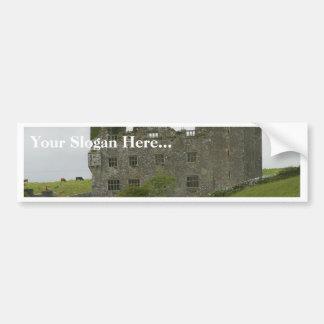 Old Building Castle On Green Hill Bumper Sticker