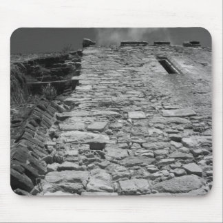 Old building. Tall Stone Wall. Mouse Pads