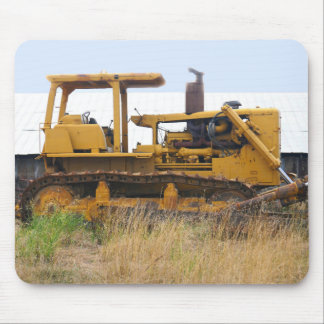 Old Bulldozer Sitting In A Field Mouse Pad