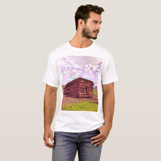 Old Cabin in Coyote Shirt by Jacqueline Kruse