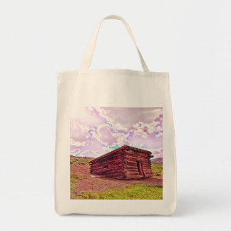 Old Cabin in Coyote Tote by Jacqueline Kruse