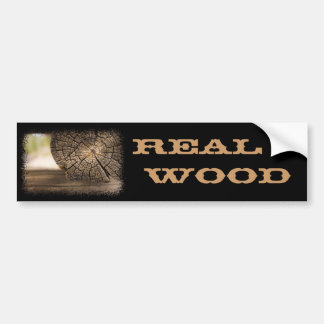 Old Cabin Wood Textures Bumper Sticker