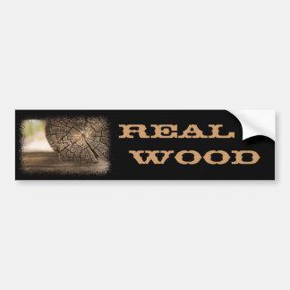 Old Cabin Wood Textures Bumper Sticker