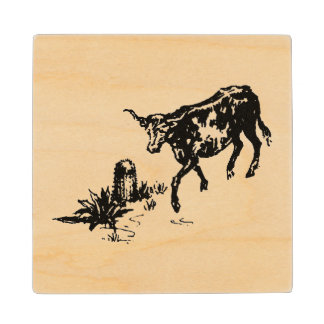 Old California Style Rancho Life wood coaster