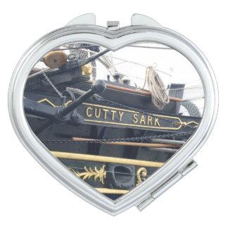 Old Calyon Name Heart Compact Mirror