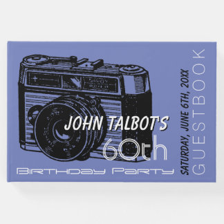 Old Camera 60th birthday Party Guest Book 2
