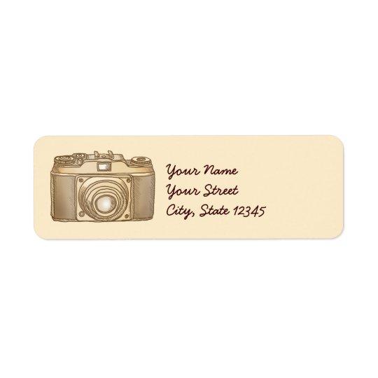 Old Camera Return Address Label