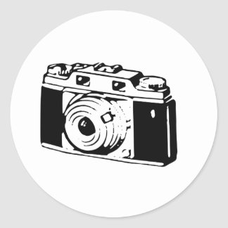 Old Camera Round Sticker