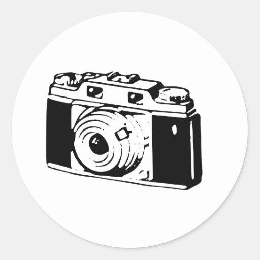 Old Camera Round Sticker