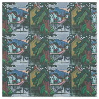 """""""Old Canal Port"""" art fabric"""