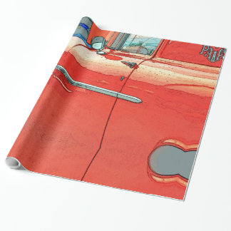 Old car as a sketch wrapping paper