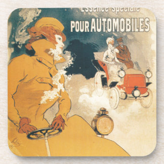 Old car automobile French advertisement Drink Coaster