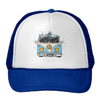 old car - blue cap