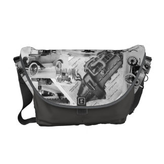 Old Car Collage tote. Commuter Bags