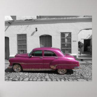Old car in Trinidad, Cuba Poster