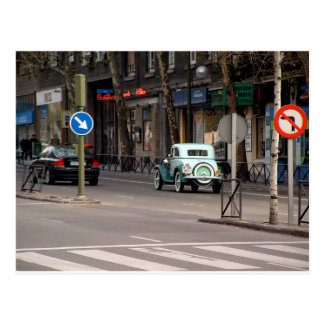 Old car, new car. Alberto Aguilera, Madrid Postcard
