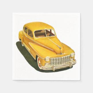 Old Car Paper Napkins Paper Napkin