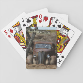 Old car playing cards