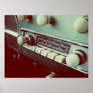 old car radio poster