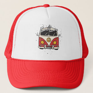old car - red trucker hat