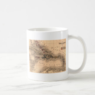 Old Caribbean Map Dive Shirt Coffee Mugs