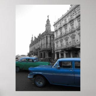 Old cars in Havana Poster