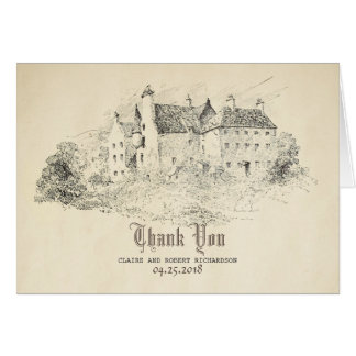 Old Castle Fairy Tale Wedding Thank You Card