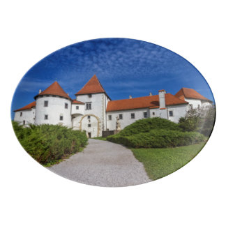 Old castle, Varazdin, Croatia Porcelain Serving Platter