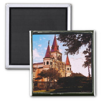 Old Cathedral at JackSon Square Magnet