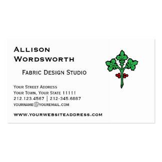 Old Celtic Holly Branch Symbol Pack Of Standard Business Cards