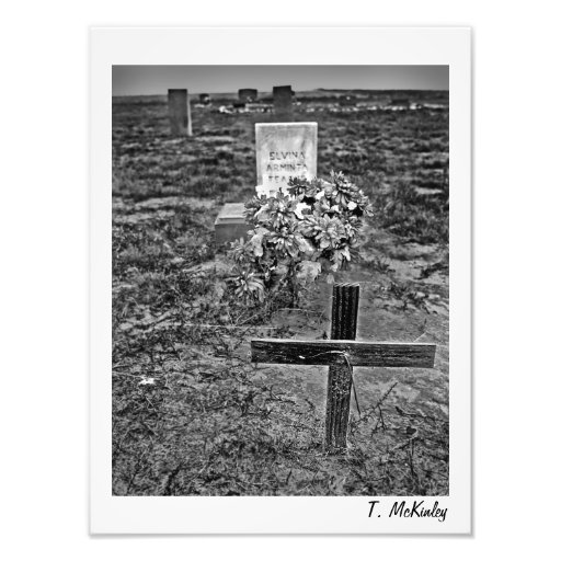 Old Cemetery Art Print Photograph
