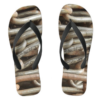 Old Chain Flip Flops